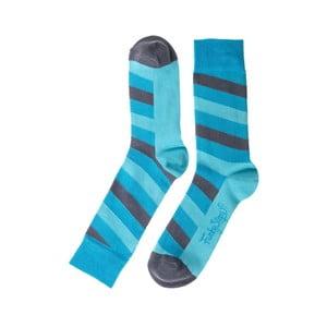 Stripes kék zokni, mérete 39 – 45 - Funky Steps