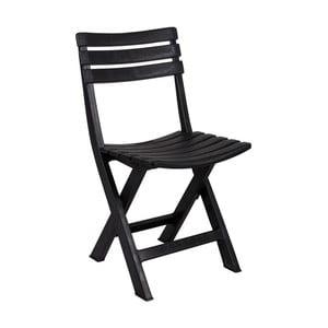 Marella fekete kültéri szék, összecsukható - Crido Consulting