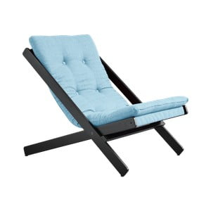 Skládací křeslo Karup Design Boogie Black/Light Blue
