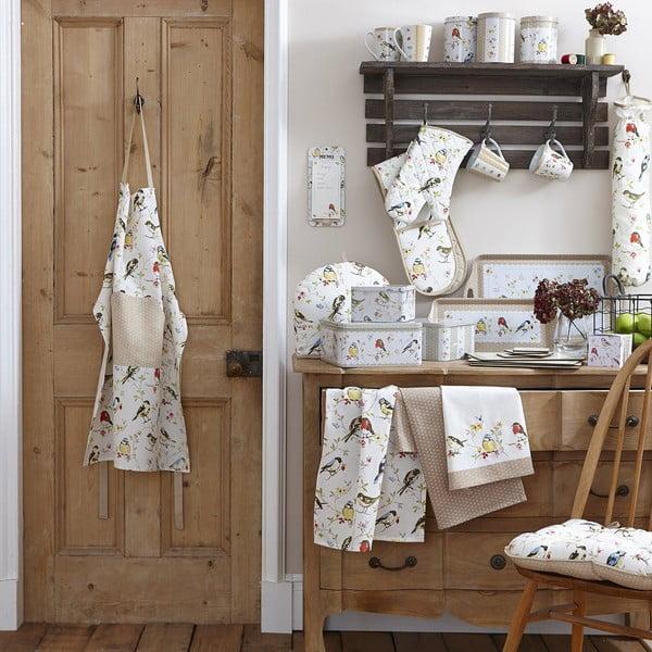 Dawn Chorus pamut, vállon hordható bevásárlótáska, 40 x 30 cm - Cooksmart England