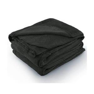 Tmavě šedá deka z mikrovlákna AmeliaHome Tyler, 70 x 150 cm