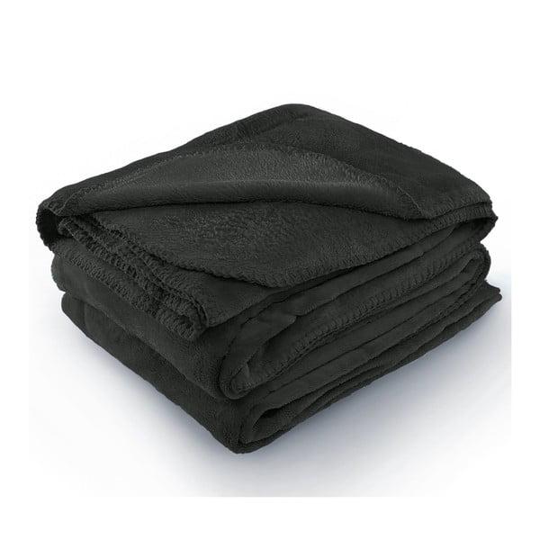 Tyler sötétszürke mikroszálas takaró, 170 x 200 cm - AmeliaHome