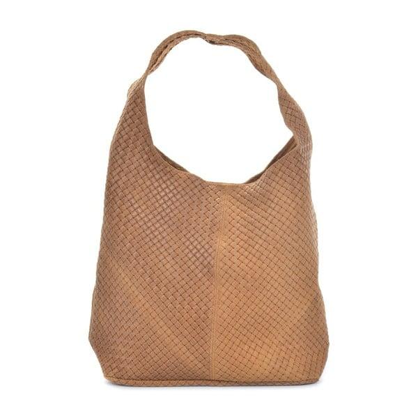 Abelie konyakbarna bőrtáska - Mangotti Bags