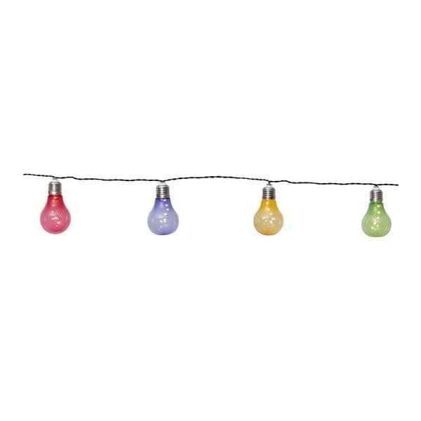 Glow színes kültéri napelemes LED fényfüzér, 10 izzó - BestSeason