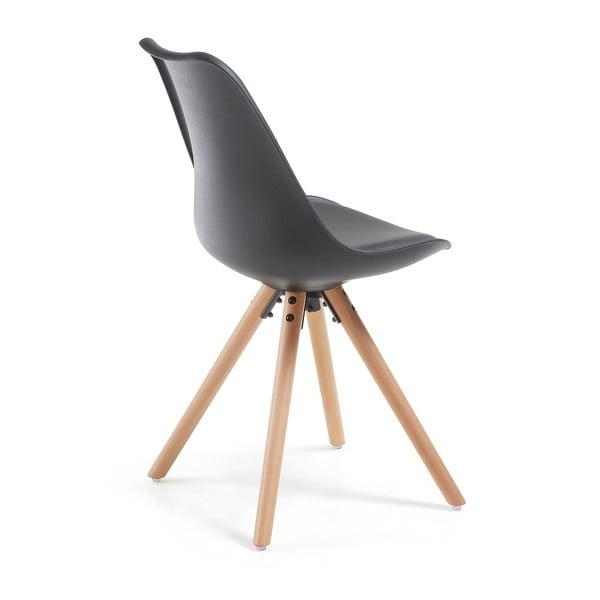 Fekete szék bükkfa lábakkal - loomi.design