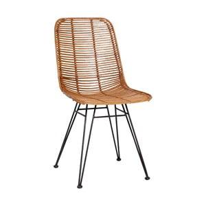 Bergitte natúrszínű rattan szék - Hübsch