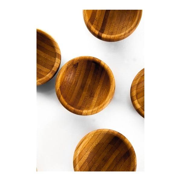 Lepa 6 db-os bambusz szószostálka szett - Bambum