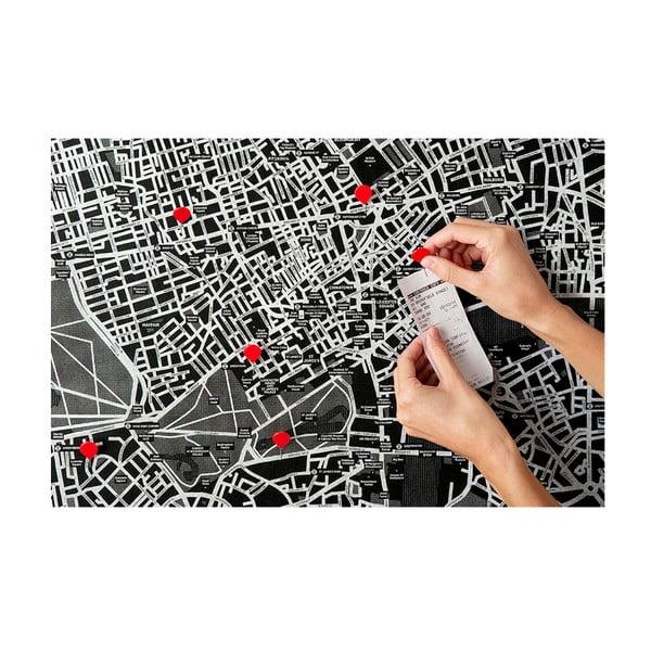 Pin World fekete Európa falitérkép, 100 x 80 cm - Palomar