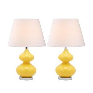 Gabriel asztali lámpa citromsárga talpazattal, 2 db - Safavieh