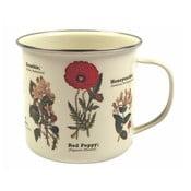 Wild Flowers virágmintás zománcozott bögre, 350 ml - Gift Republic