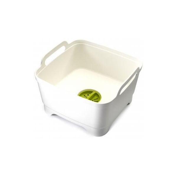 Wash&Drain fehér konyhai mosogatótál, leeresztő kupakkal - Joseph Joseph