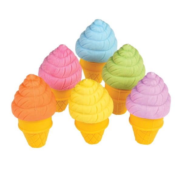 Ice Cream 6 db-os radír készlet - Rex London
