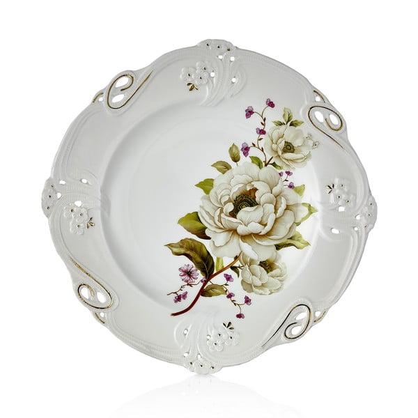 Franz Richard 6 db-os porcelántányér szett, ⌀ 27 cm