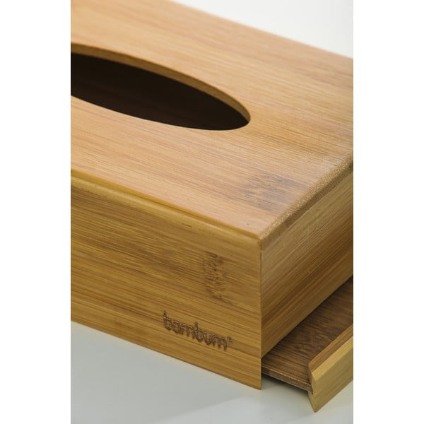 Metta bambusz zsebkendős doboz, 19 x 12,3 cm - Bambum
