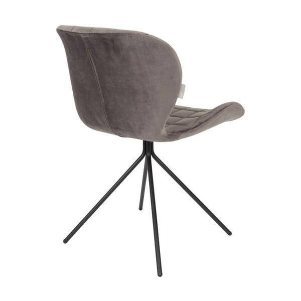 OMG Velvet 2 db-os szürke székkészlet - Zuiver