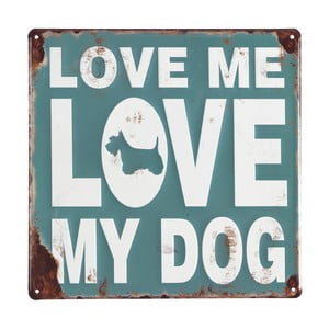 Love My Dog fém faldísz-készlet, 4 részes - Geese