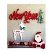 New Year karácsonyi faldísz, 70 x 2 x 30 cm