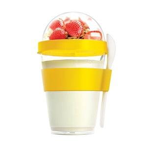 Yo2GO sárga ételhordó doboz, 360 ml - Asobu