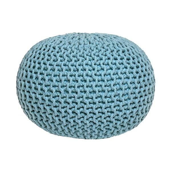 Knitted türkizkék kötött puff - LABEL51