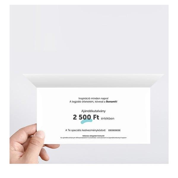 Nyomtatott ajándékutalvány 2500 Ft értékben