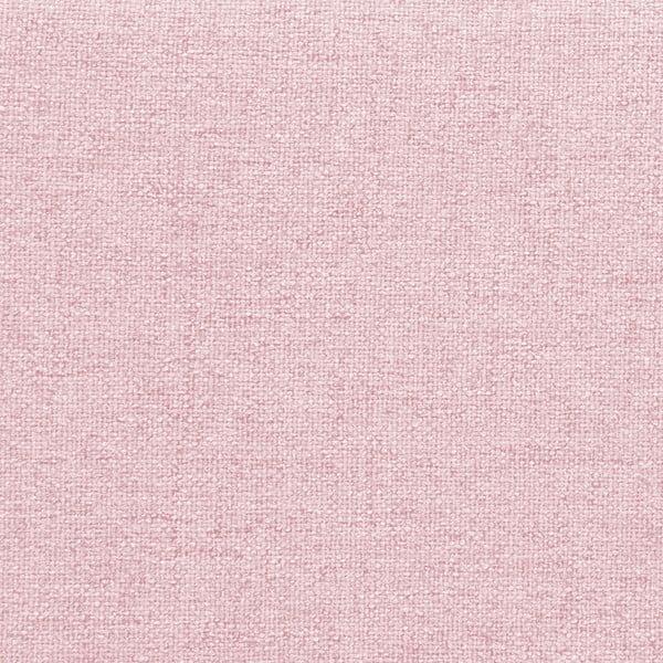 Mae Queen Size kétszemélyes púder rózsaszín ágy fekete lábakkal, 160 x 200 cm - Vivonita