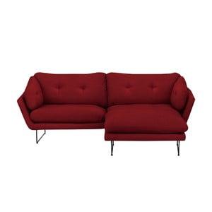 Comet piros háromszemélyes kanapé és puff szett - Windsor & Co Sofas