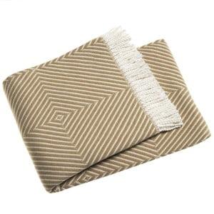 Hnědý pléd s podílem bavlny Euromant Tebas, 140x180cm