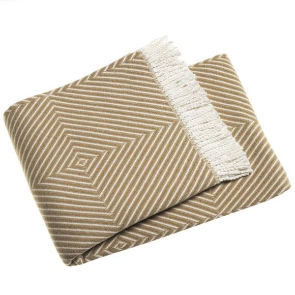 Tebas barna pamutkeverék pléd, 140 x 180 cm - Euromant