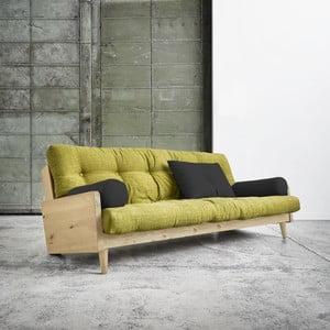 Indie Natural/Avocado Green/Dark Grey kihúzható kanapé - Karup