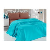 Taduro türkizkék könnyű pamut ágytakaró, 200 x 240 cm