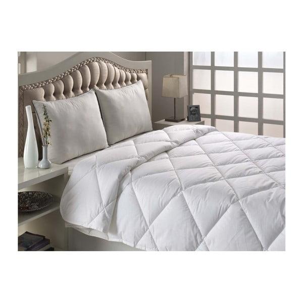 Marvella Quilt Single Size fehér steppelt egyszemélyes ágytakaró, 155 x 200 cm
