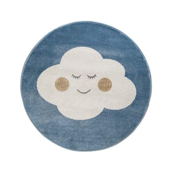 Cloud kék, kerek szőnyeg felhő mintával, 100 x 100 cm - KICOTI