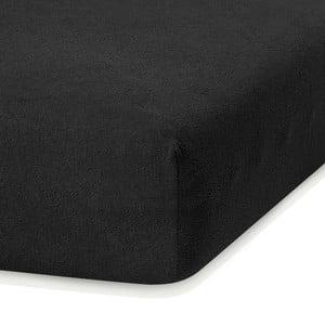 Ruby fekete gumis lepedő, 200 x 140-160 cm - AmeliaHome