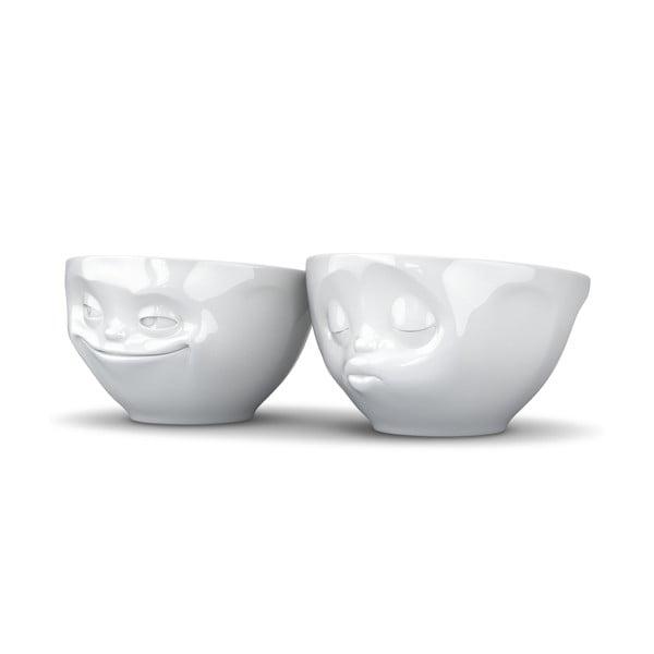 2 részes fehér szerelmes tál szett, 200 ml - 58products