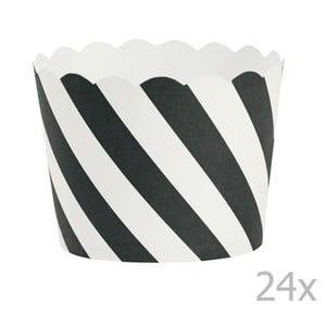 Black Diagonal papír sütőforma, 24 db - Miss Étoile