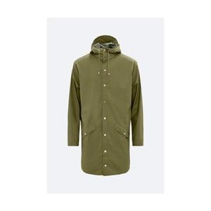 Zelená unisex bunda s vysokou voděodolností Rains Long Jacket, velikost XS/S