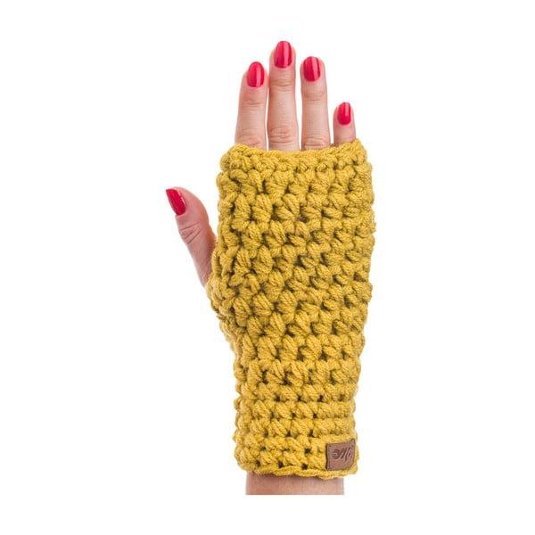 Ash mustársárga kézzel horgolt kézmelegítő - DOKE