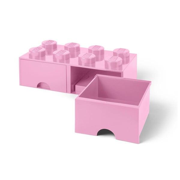 Világos rózsaszín tárolódoboz, 2 fiókkal - LEGO®