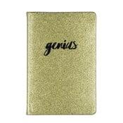 Genius jegyzetfüzet aranyszínű borítóval, 96 oldalas - Tri-Coastal Design