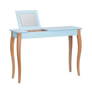 Dressing Table világos türkiz fésülködőasztal tükörrel, 105 cm hosszú - Ragaba