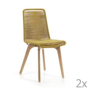 Glendon mustársárga szék, 2 db - La Forma
