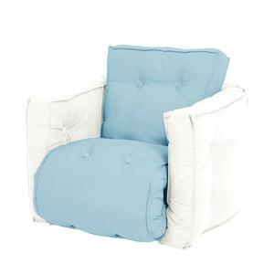 Mini Dice világoskék kinyitható gyermek fotel natúr vázzal - Karup