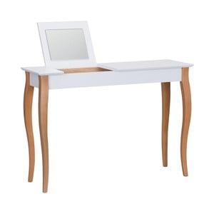 Dressing Table fehér fésülködőasztal tükörrel, hossza 105 cm - Ragaba