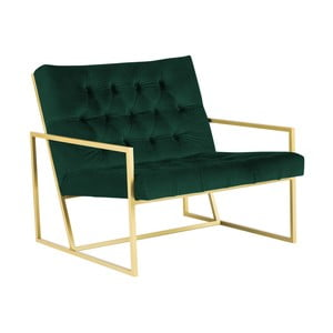 Bono zöld fotel aranyszínű konstrukcióval - Mazzini Sofas