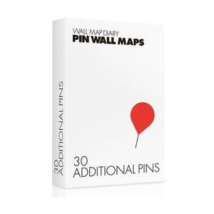 Gombostű készlet Pin World térképekhez, 30 db - Palomar