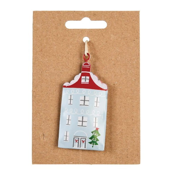 House kézzel készített fém karácsonyfadísz - Rex London