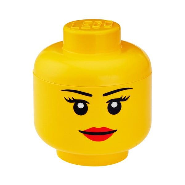 Lány minifigura fej tároló, Ø 16,3 cm - LEGO®