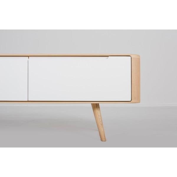 Ena tölgyfa TV-állvány, 225 x 42 x 45 cm - Gazzda