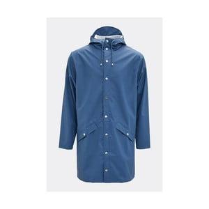 Modrá unisex bunda s vysokou voděodolností Rains Long Jacket, velikost XS/S