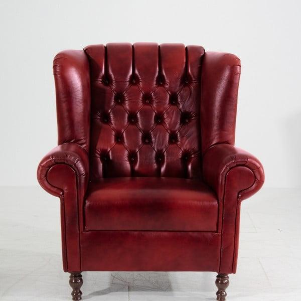 Vary piros bőrfotel - Max Winzer